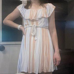 altar'd state mini dress with stripes